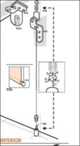 sistema para estor enrollable guiado cable