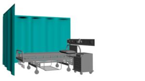 cortina para consulta medica en L
