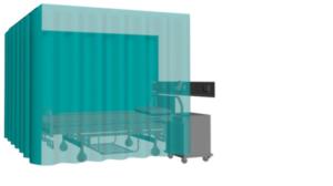 cortina para consulta medica en U