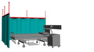cortina para consulta medica con tirantes